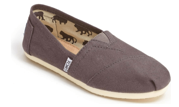 Toms Ash Canvas Classic Slip Ons