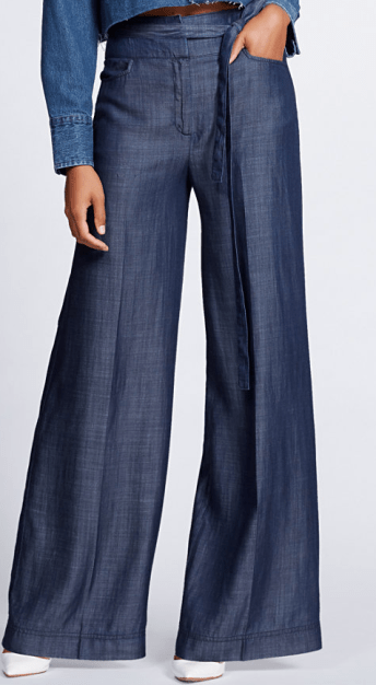 NY&C: Dark Blue Wide Leg Pan - Gabrielle Union Collection