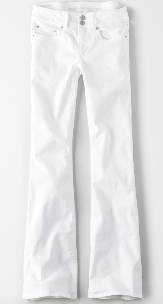 AE Artist Flare White Jeans