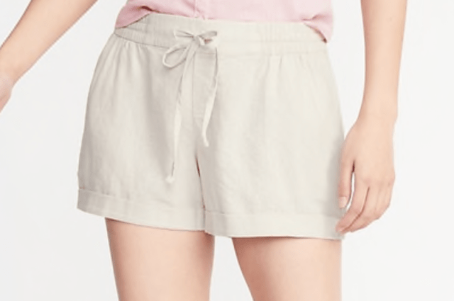 Old Navy Mid-Rise Linen Blend Shorts 4inch