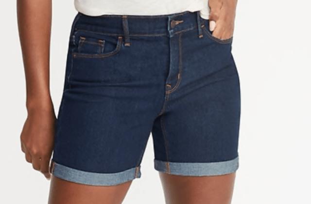 """Old Navy Slim 5"""" inseam Demin Cuff Shorts"""