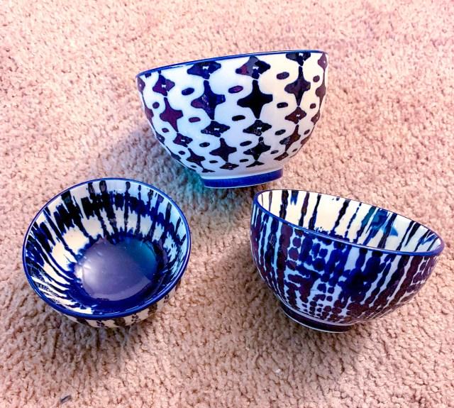 West Elm Indigo Tie-Dye Bowls