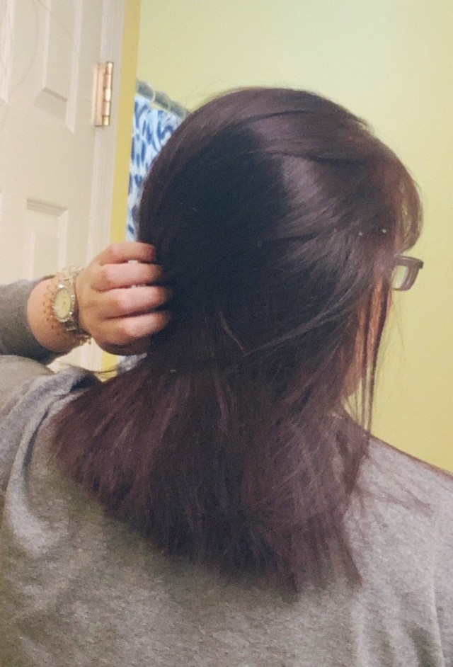After hair