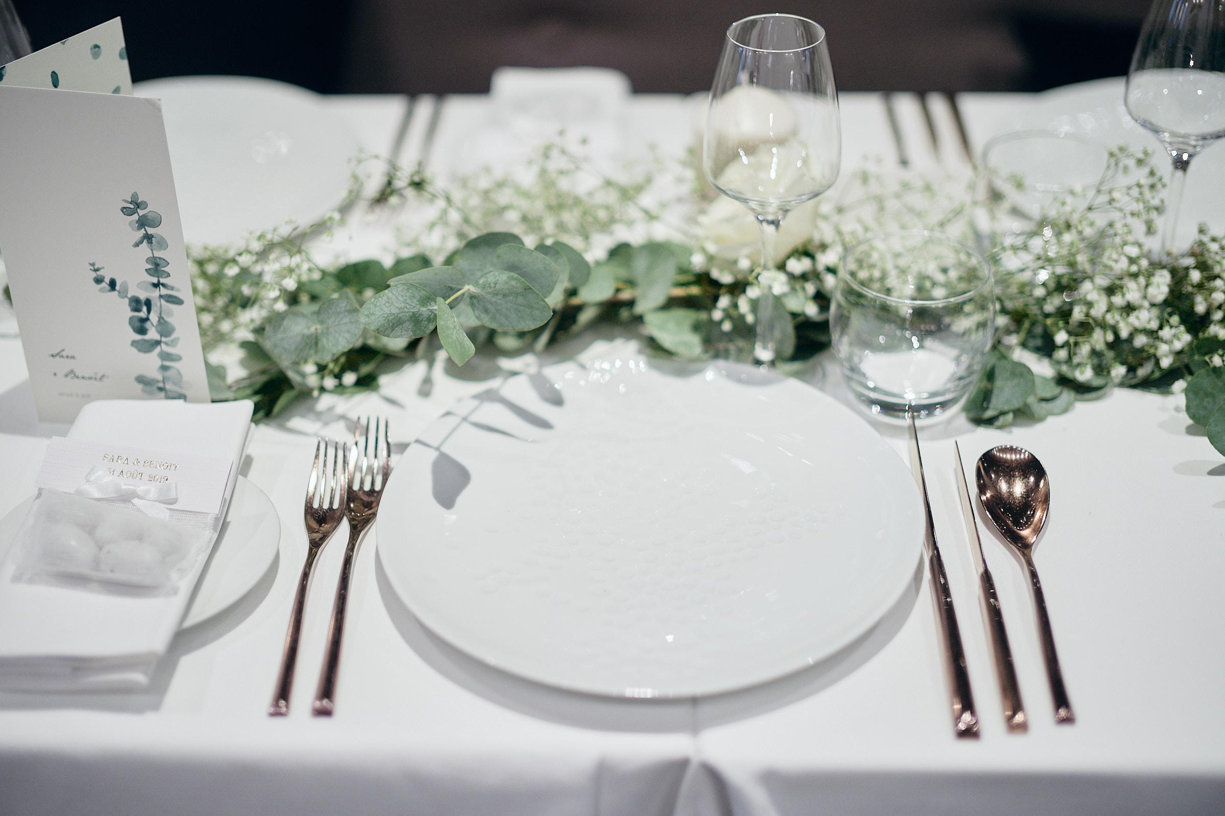 présentation de table du mariage