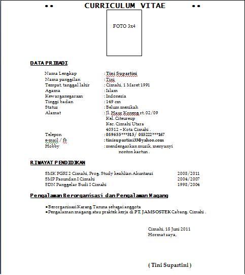 Contoh Resume Bahasa Indonesia Dan Inggris Contoh Resume Terbaik