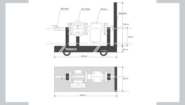 flow meter portable tokico