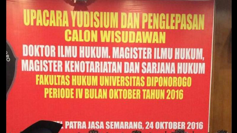 Heboh di Medsos, Salah Tulis Universitas Diponegoro Jadi Diponorogo
