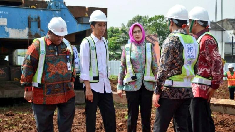 Jokowi Groundbreaking Pembangunan Rusunami DP 1% di Tangsel