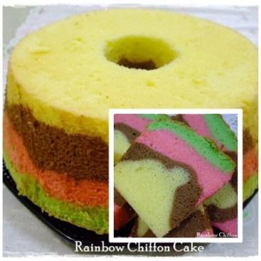 RAINBOW CHIFFON Cake