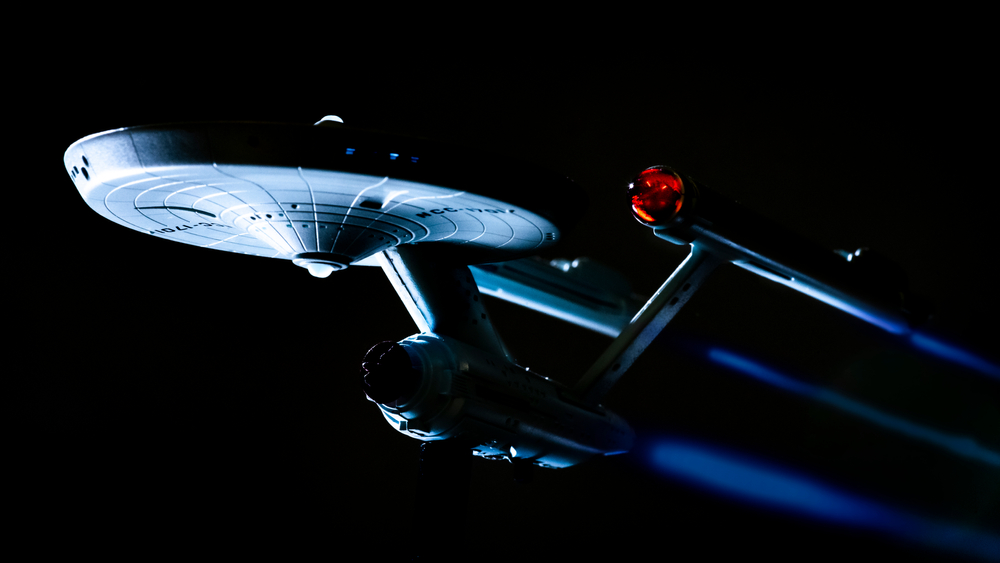 Image of Star Trek Space Ship Enterprise in Space