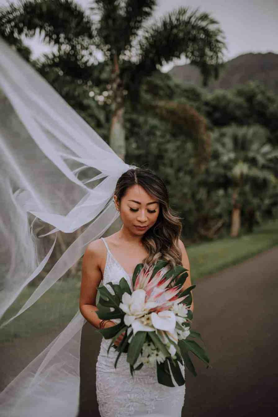 Bridal Hair and make-up and florals inspiration Oahu, Hawaii