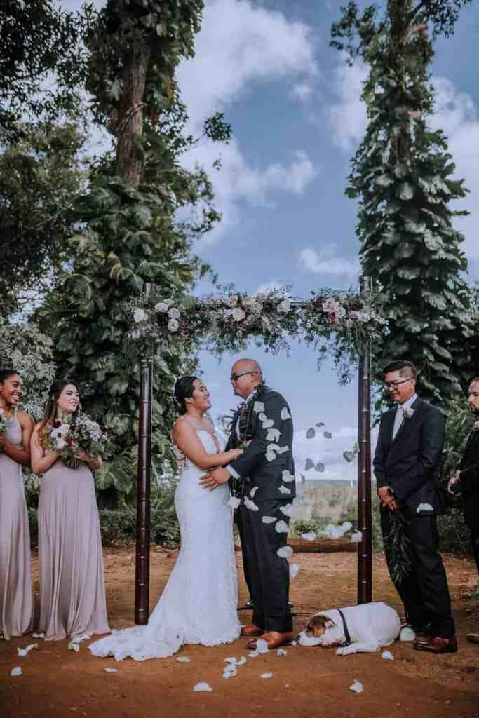 Sunset Ranch wedding ceremony