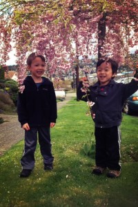 poem to my five year old twins