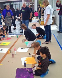 Kids Painting with Dale Chihuly at the Garden and Glass Museum in Seattle