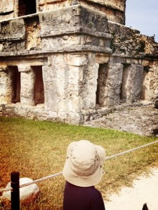 visiting mayan ruins with kids in mexico