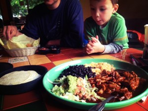 eating out with kids in seattle at taco guyamas in Fremont