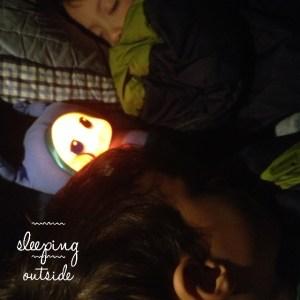 Sleeping outside photo