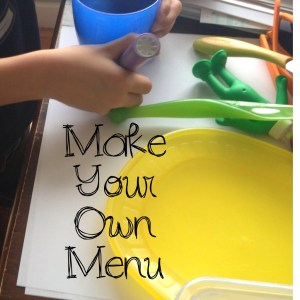 Kids Make your own menu for dinner