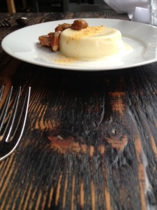 panna cotta at Sitka and Spruce