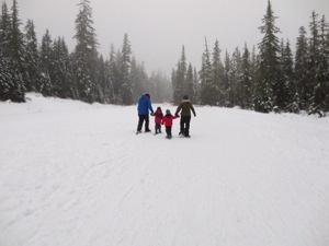 snowshoeing with kids in the callaghan valley near whistler