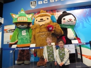 Vancouver Mascots at BC Sports hall of fame