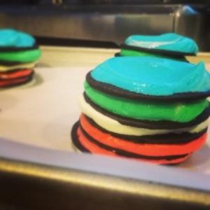 rainbow icebox cake