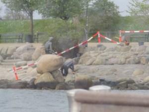 mermaid statue repairs denmark