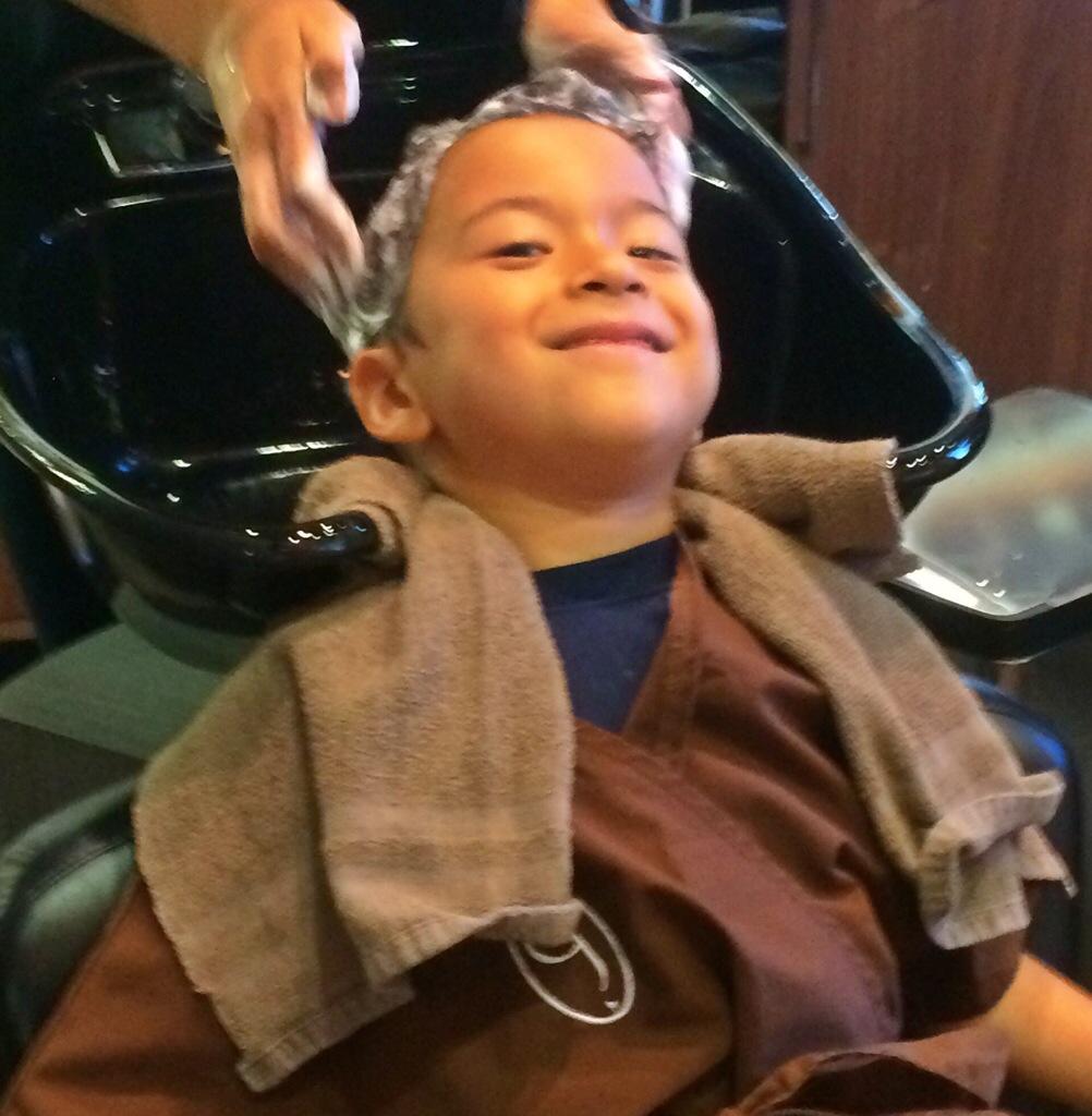 kids haircut at Gene juarez