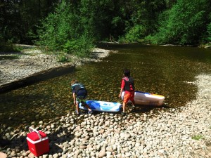 rafting in a secret coquitlam  river