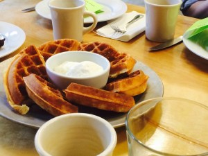 mae james waffle breakfast