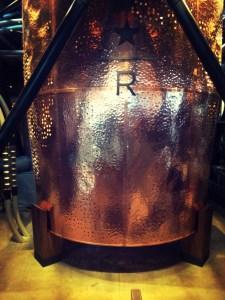 A big roaster at Starbucks Roastery