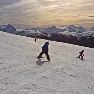 freshtracks with kids in whistler