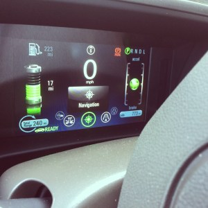 fancy dashboard in the Chevy Volt