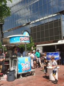 snow cone machine at Main Street Arts Festival