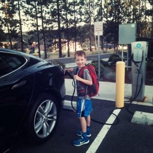 Springhill Suites Coeur d'Alene charging a Tesla