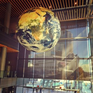 big globe in Vancouver Convention Centre