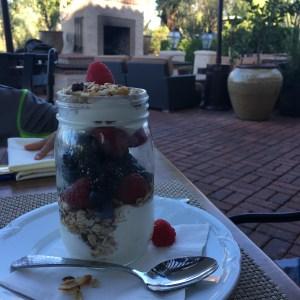 granola and yogurt parfait at rancho bernardo inn