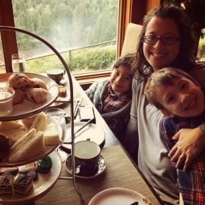 tea with kids at salish lodge
