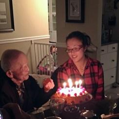 grandpa and grandaughter share a birthday