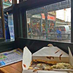 window to eat lunch in pike place market