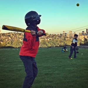 Kids baseball in Seattle at Ella Bailey Park