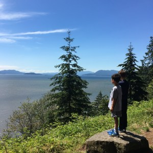 Scenic Lookout on the Chuckanut Drive