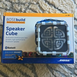 Bose build speaker cube