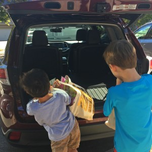 Grocery shopping with a Toyota highlander