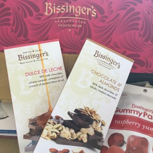 Yummy Bissingers chocolate in the mail