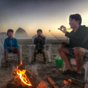 S'mores on the Oregon Coast with Surfsand Resort