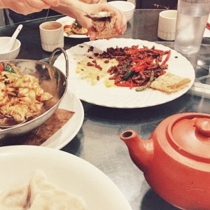 Family Style meal at Silkway Halal