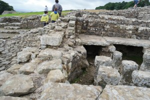 Hadrian's Wall with kids in England on a road trip