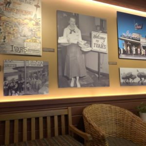 Photos line the walls of Ivars Acres of Clams in Seattle