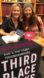 meeting Jojo Moyes at Third Place Books in Bothell. It's amazing that they have free author reading events